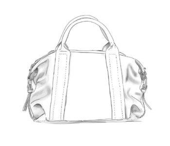 BowlingJeanne cuir personnalisable Modèle Particulier