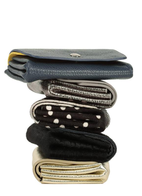 Porte Monnaie à soufflets en cuir personnalisable - Inès