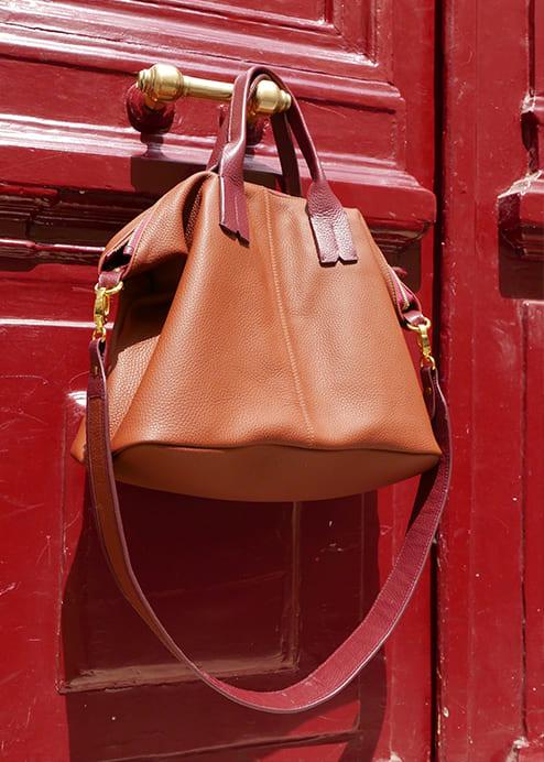 Sac shopper Chiara cuir personnalisable Modèle Particulier
