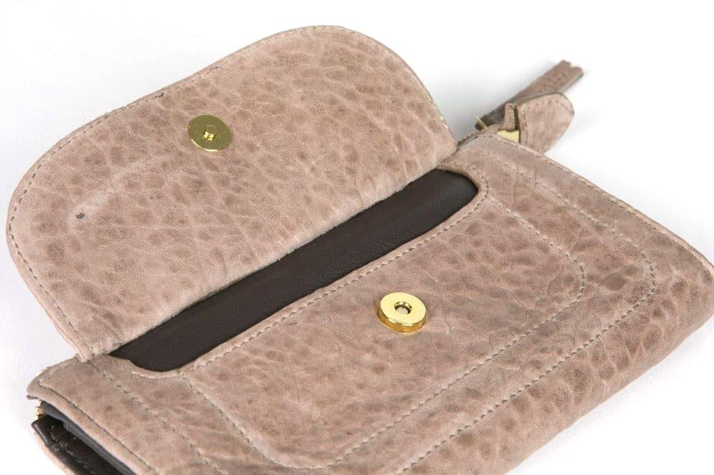 Porte monnaie long en cuir personnalisable – Milla