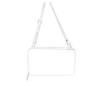 Mini Sac Porte Monnaie en cuir personnalisable - Louise - Modèle Particulier