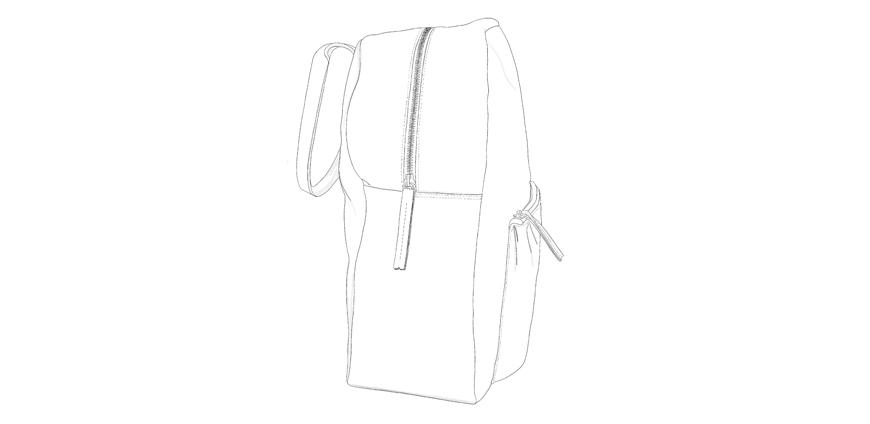 Maxi porté épaule en cuir personnalisable AXEL Modèle Particulier