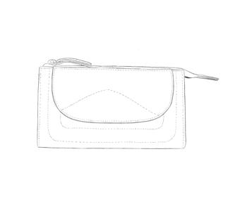Porte monnaie long en cuir personnalisable Modèle Particulier