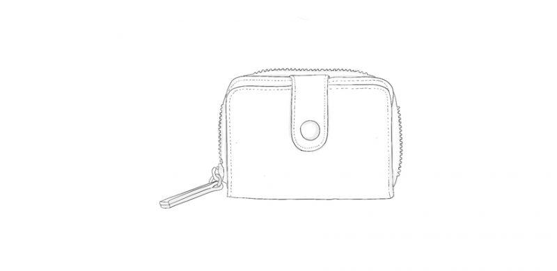 Porte Monnaie zippé en cuir personnalisable GAIA Modèle Particulier