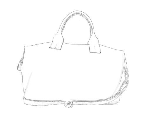 Sac shopper souple cuir personnalisable Modèle Particulier