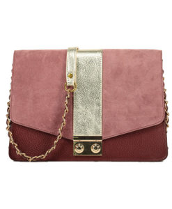 Modele-particulier-Sac-chaîne-cuir-personnalisable-Anna-_0017_cuir-velours-rose-the-cuir-graine-or-bordeaux