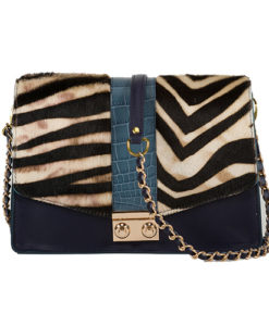 Modele-particulier-Sac-chaîne-cuir-personnalisable-Anna-_0036_impression-zebre-crocodile-bleu-cuir-marine