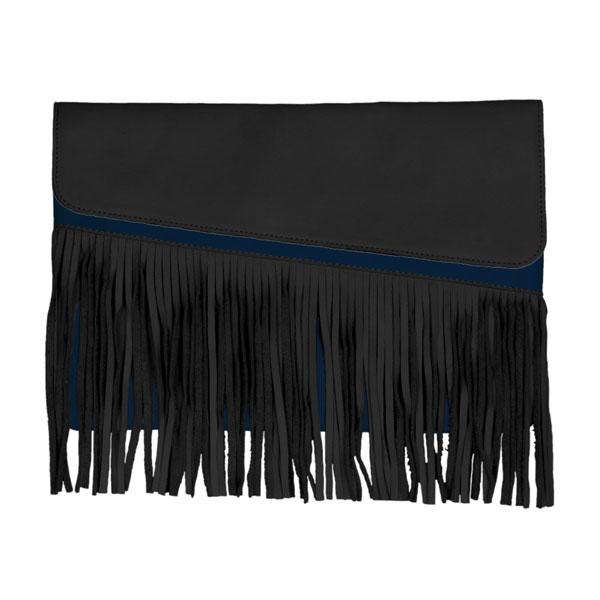 Femme – Pochette De Soirée Noir Bleue Belle de Nuit