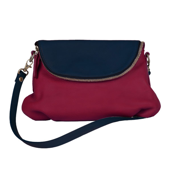 Femme – sac bandoulière bleu marine bordeaux