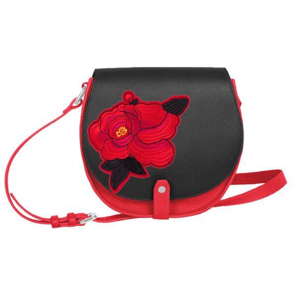 Femme – porté épaule noir rouge écusson