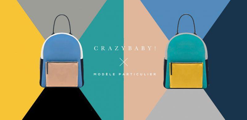 collection capsule CrazyBaby / Modèle Particulier, sac en cuir personnalisé