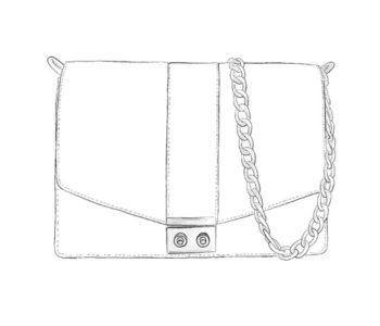 Sac chaîne cuir personnalisable - Anna Modèle Particulier