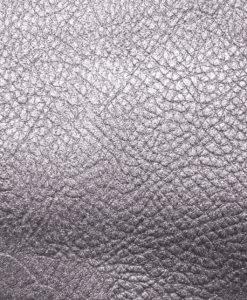 échantillon cuir métallisé gris lilas pour sac personnalisable Modèle Particulier