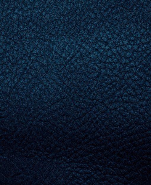 Echantillon cuir grainé bleu marine pour sac personnalisable Modèle Particulier