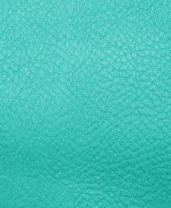 Echantillon cuir grainé turquoise pour sac personnalisable Modèle Particulier