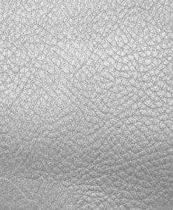 Echantillon cuir métallisé argent pour sac personnalisé