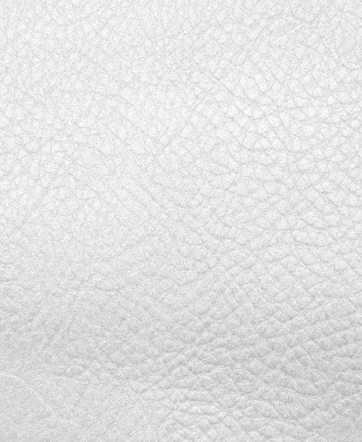 Echantillon cuir grainé Blanc pour sac personnalisable