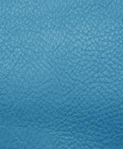 Echantillon cuir grainé bleu pour sac personnalisable