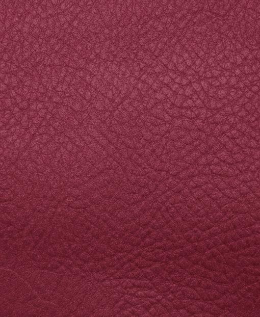échantillon cuir grainé bordeaux pour sac personnalisable