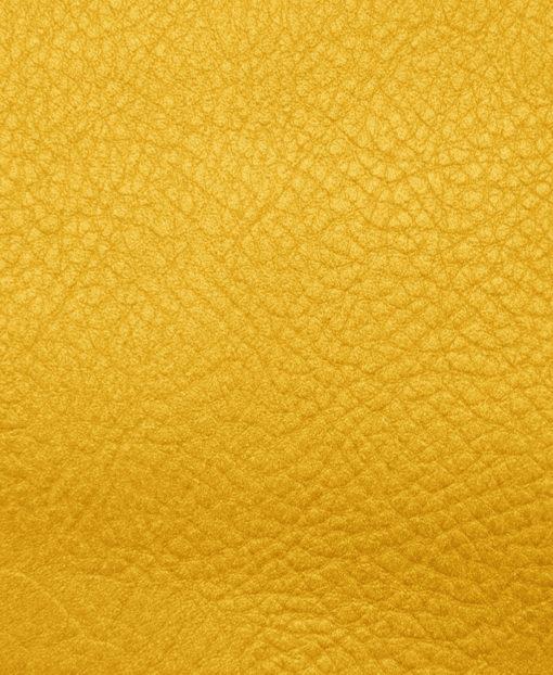 échantillon cuir grainé jaune pour sac personnalisable
