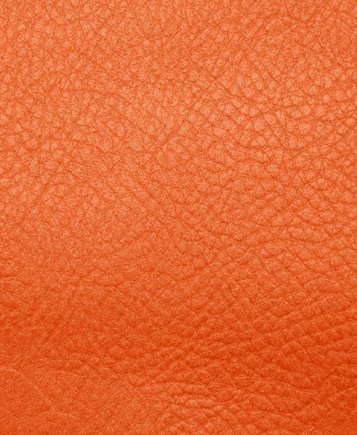 Echantillon cuir grainé orange abricot pour sac personnalisable Modèle Particulier