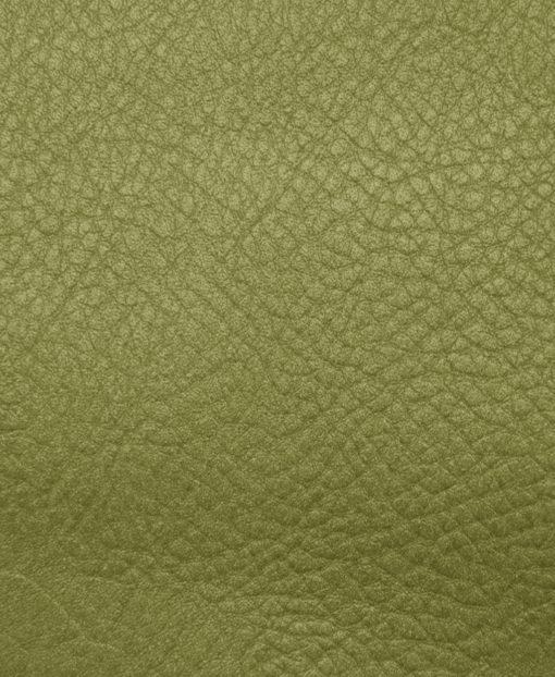 Echantillon cuir grainé vert clair pour sac personnalisable