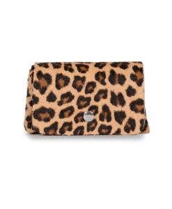 Porte Monnaie à Soufflets INES Cuir impression léopard