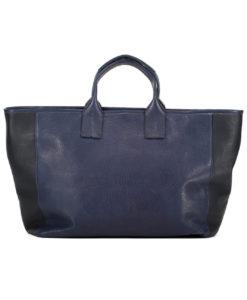 Grand Shopper MANON Cuir marine et noir Modèle Particulier