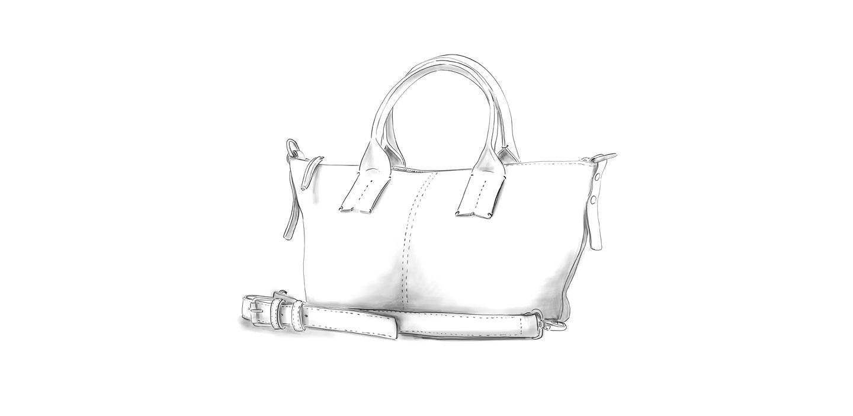 Mini shopper LILOU cuir personnalisable Modèle Particulier