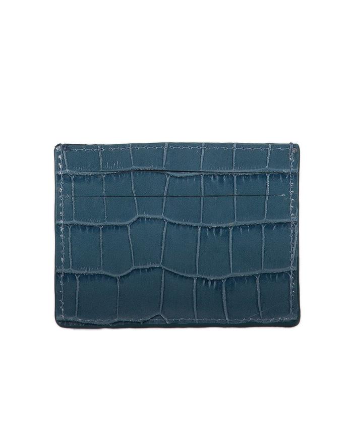 nouveau style ea07a 90946 Porte Carte VLAD Cuir imprimé crocodile bleu