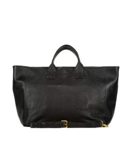 Grand Shopper MANON Cuir crispé noir Modèle Particulier