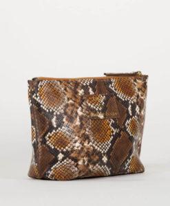 pochette en python marron