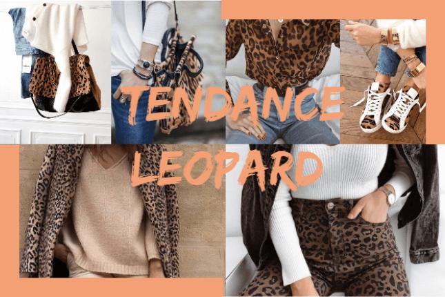 sac en cuir imprimé léopard