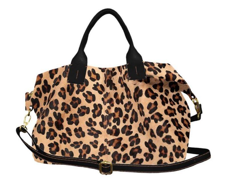 sac chiara en cuir léopard et noir